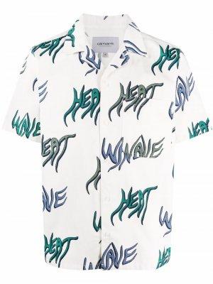 Рубашка с короткими рукавами и надписью Carhartt WIP. Цвет: белый