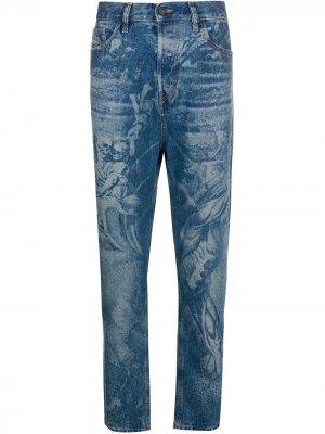 Зауженные джинсы D-Vider Diesel. Цвет: синий