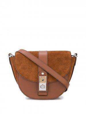 Маленькая полукруглая сумка PS11 Proenza Schouler. Цвет: коричневый