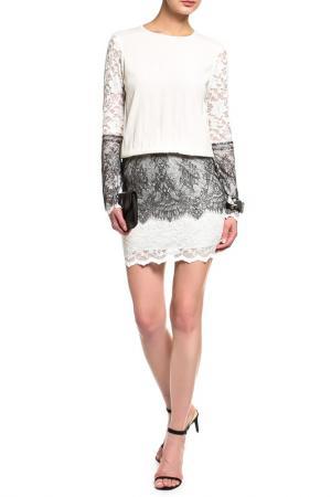 Платье-туника Loyd Ford. Цвет: белый