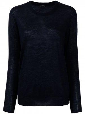 Кашемировый пуловер с круглым вырезом Joseph. Цвет: синий