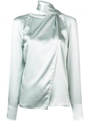 Блузка с высоким воротником Yigal Azrouel. Цвет: зеленый