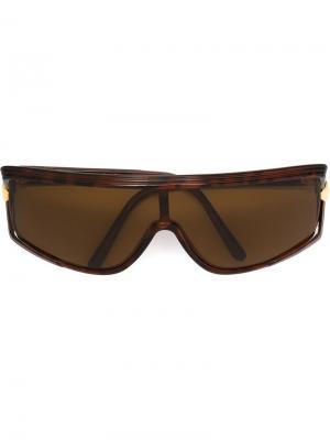 Солнцезащитные очки с узором черепашьего панциря Emanuel Ungaro Pre-Owned. Цвет: коричневый