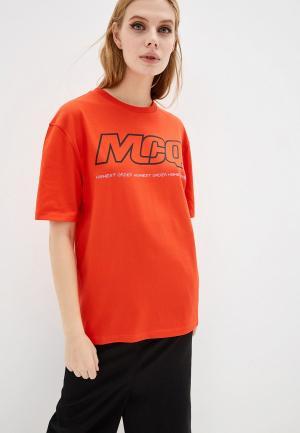 Футболка McQ Alexander McQueen. Цвет: красный