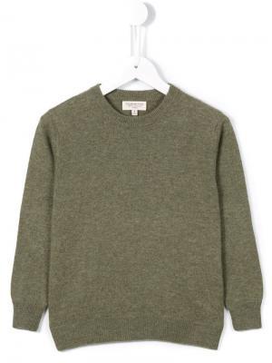 Кашемировый пуловер Cashmirino. Цвет: зеленый