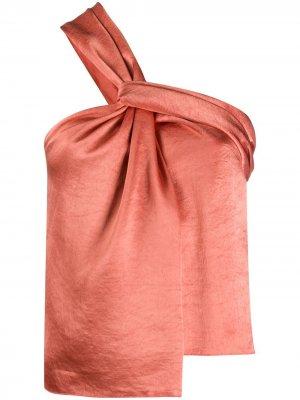 Блузка на одно плечо Nanushka. Цвет: оранжевый