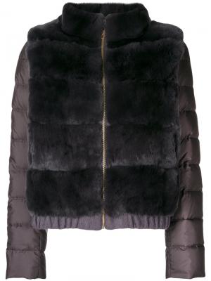 Пальто Liska. Цвет: серый