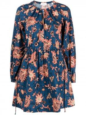 Платье мини Myra с кулиской A.L.C.. Цвет: синий