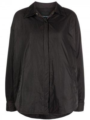 Куртка-рубашка оверсайз Cynthia Rowley. Цвет: черный