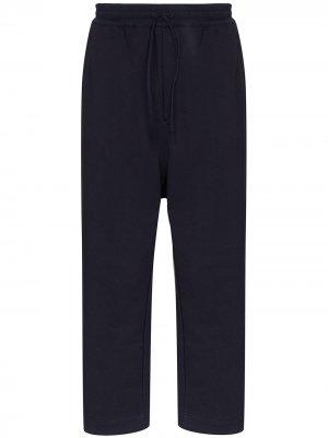 Укороченные спортивные брюки из джерси Y-3. Цвет: синий