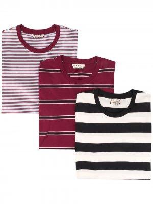 Комплект из трех футболок Marni. Цвет: синий