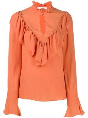 Блузка с оборками See by Chloé. Цвет: оранжевый