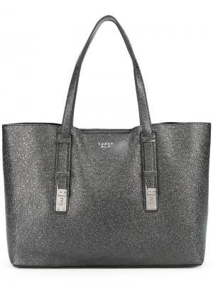 Creased large tote bag Tosca Blu. Цвет: черный