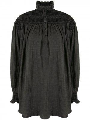 Блузка Guillaume со сборками Mes Demoiselles. Цвет: серый