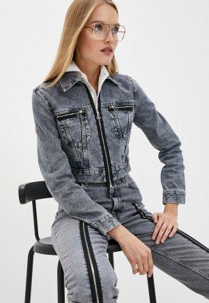 Куртка джинсовая Helmut Lang. Цвет: серый