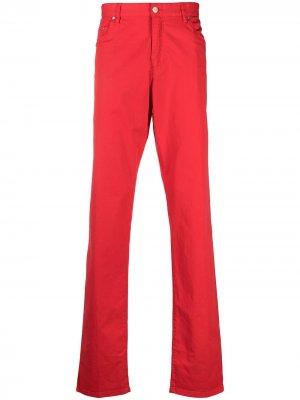 Узкие брюки с пятью карманами Paul & Shark. Цвет: красный