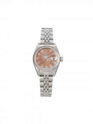Наручные часы Lady-Datejust pre-owned 26 мм 1997-го года Rolex. Цвет: розовый