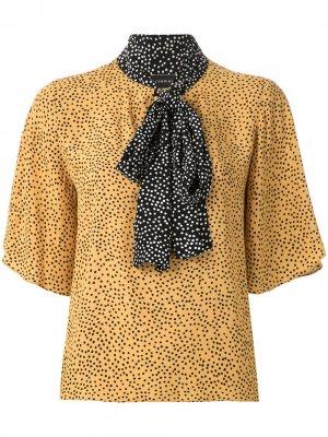 Блузка Jarosse с принтом Olympiah. Цвет: желтый