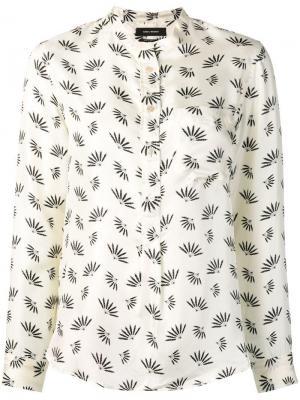 Usak printed satin shirt Isabel Marant. Цвет: белый