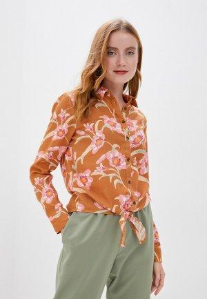 Блуза Roxy. Цвет: коричневый