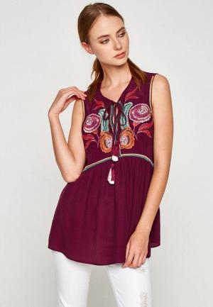 Блуза Koton. Цвет: фиолетовый