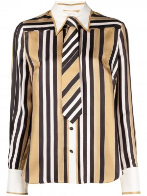 Полосатая рубашка на пуговицах Zimmermann. Цвет: нейтральные цвета