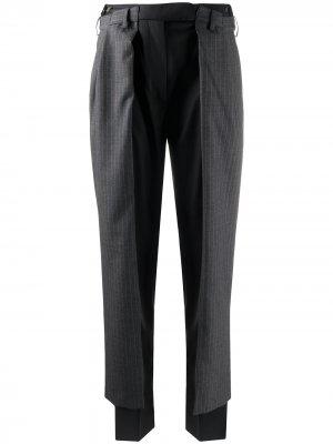 Многослойные брюки строгого кроя Preen By Thornton Bregazzi. Цвет: серый