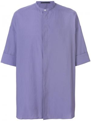 Рубашка с потайной застежкой Haider Ackermann. Цвет: фиолетовый