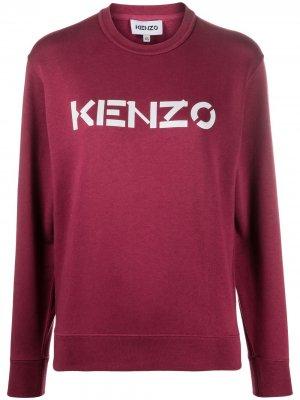 Топ с длинными рукавами и логотипом Kenzo. Цвет: красный