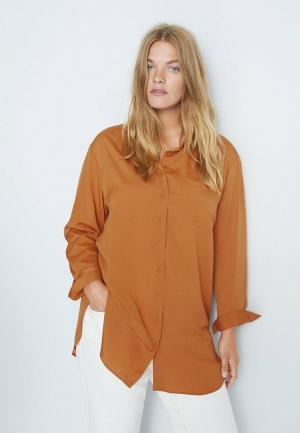 Блуза Violeta by Mango. Цвет: коричневый