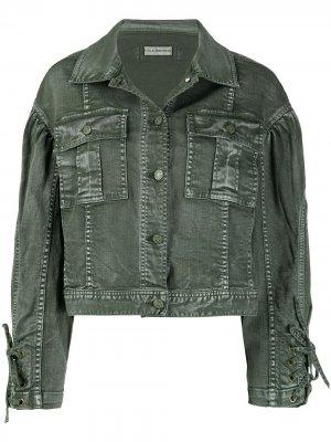 Укороченная куртка Atticus Ulla Johnson. Цвет: зеленый