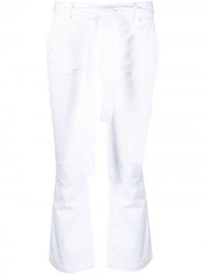 Расклешенные брюки с завязками LIU JO. Цвет: белый