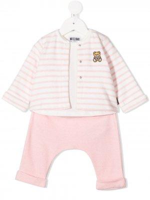 Спортивный костюм Teddy Bear Moschino Kids. Цвет: розовый