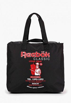 Сумка дорожная Reebok Classics. Цвет: черный