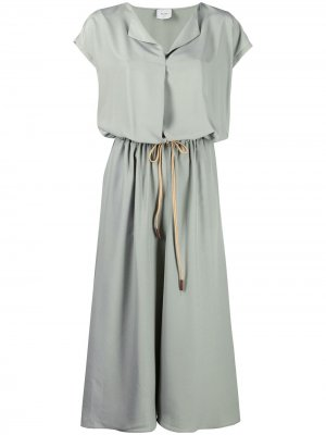 Платье миди с кулиской Alysi. Цвет: зеленый