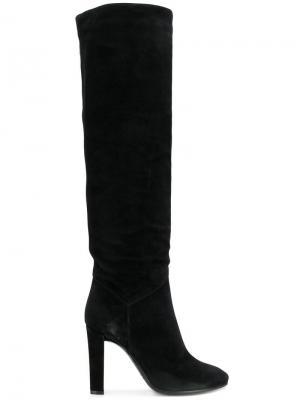 Высокие сапоги на каблуке Alberta Ferretti. Цвет: черный