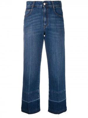 Укороченные джинсы широкого кроя Stella McCartney. Цвет: синий