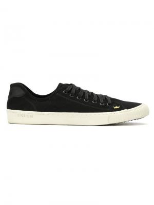 Leather low top sneakers Osklen. Цвет: черный