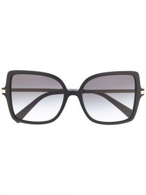 Солнцезащитные очки в массивной квадратной оправе Valentino Eyewear. Цвет: черный