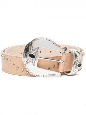 Ремень с заклепками B-Low The Belt. Цвет: нейтральные цвета
