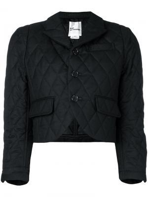 Куртка в стилистике болеро Comme Des Garçons Noir Kei Ninomiya. Цвет: черный