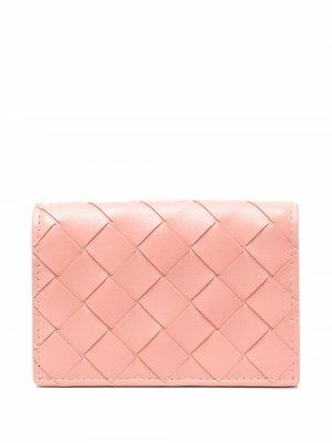 Кошелек с плетением Intrecciato Bottega Veneta. Цвет: розовый