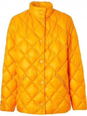 Стеганая куртка-пуховик Burberry. Цвет: оранжевый