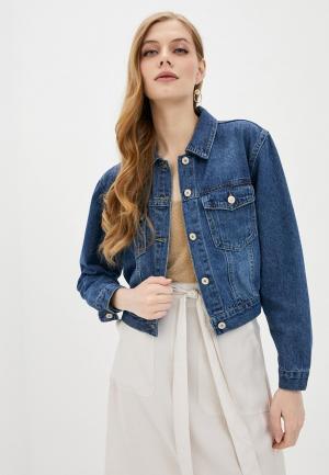 Куртка джинсовая Softy. Цвет: синий