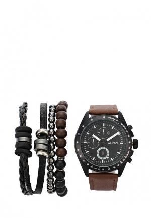 Часы Aldo. Цвет: коричневый
