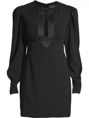 Платье мини с каплевидным вырезом Nicole Miller. Цвет: черный