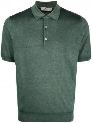 Рубашка поло с короткими рукавами Canali. Цвет: зеленый