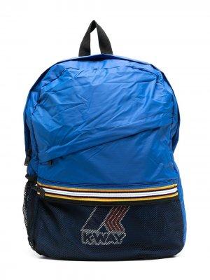 Рюкзак с логотипом K Way Kids. Цвет: синий