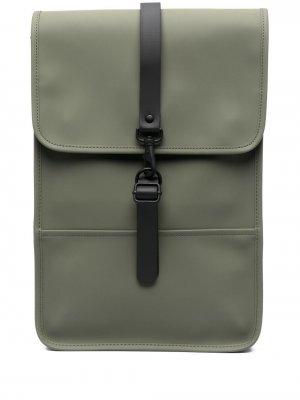 Прямоугольный рюкзак Rains. Цвет: зеленый