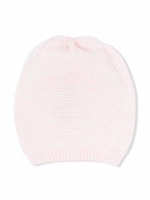 Трикотажная шапка бини Little Bear. Цвет: розовый